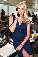 Jodie Kidd<br /> on the trading floor for the BGC Charity Day 2016, Canary Wharf, London.<br /> <br /> <br /> &copy;Ash Knotek  D3152  12/09/2016