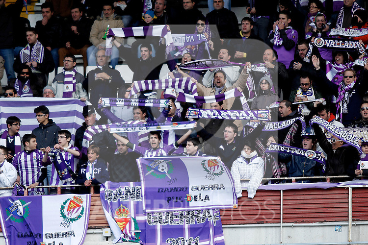 Real Valladolid's supporters during La Liga  match. February 24,2013.(ALTERPHOTOS/Alconada)