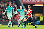 Andres Iniesta Lujan of FC Barcelona battles for the ball with Raul Garcia of Athletic Club during their Copa del Rey Round of 16 first leg match between Athletic Club and FC Barcelona at San Mames Stadium on 05 January 2017 in Bilbao, Spain. Photo by Victor Fraile / Power Sport Images