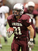 November 26, 2010:   Aquinas Institute Lil' Irish varsity football against the Harrison Huskies during the Class-A NYSPHSAA state championship game at the Carrier Dome in Syracuse, New York.  Aquinas defeated Harrison 24-13.  (Copyright Mike Janes Photography)