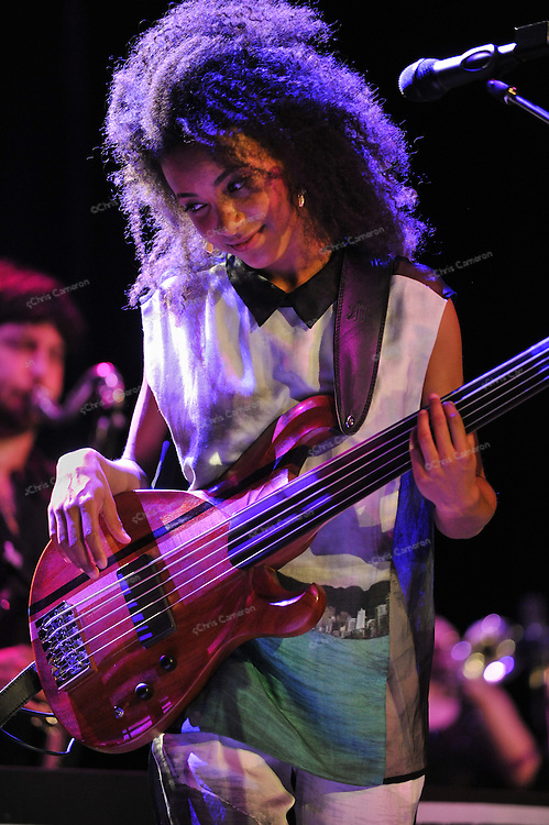 Esperanza Spalding plays the Vogue Theatre, June 23, 2013 in the TD Vancouver International Jazz Festival