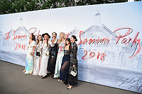 Charlotte Dellal, Alice Temperley &amp; Caroline Issa arriving for the Serpentine Summer Party 2018, Hyde Park, London, UK. <br /> 19 June  2018<br /> Picture: Steve Vas/Featureflash/SilverHub 0208 004 5359 sales@silverhubmedia.com