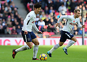 5th November 2017, Wembley Stadium, London England; EPL Premier League football, Tottenham Hotspur versus Crystal Palace; Son Heung-Min of Tottenham Hotspur in action with Christian Eriksen of Tottenham Hotspur