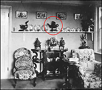 BNPS.co.uk (01202) 558833Pic: CanterburyAuction/BNPS<br /> <br /> Captain Harry Lewis Evans front room with both elephant censers and the Western Zhou water vessel pictured central in red.<br /> <br /> A Chinese relic looted from the Summer Palace by a British army officer 158 years ago has sold for more than half a million pounds after it was found in the attic of an unassuming English house.<br /> <br /> The 3,500 year old sacred Chinese bronze water vessel is one of seven known to exist, with five in museums, but Chinese officials said the stolen antiquity should be returned to China.<br /> <br /> The rare item was taken by Captain Harry Lewis Evans when the British and French arrived at the Emperor's Summer Palace in Peking - now Beijing - during the Second Opium War.<br /> <br /> Capt Evans wrote letters home describing the mystical palace and the looting of its treasures that took place in 1860.<br /> <br /> Along with the rare Tiger Ying, three other Chinese bronzes sold which brought the total to &pound;549,320 including premiums.<br /> <br /> China's State Administration of Cultural Heritage is believed to have said it was looking into the auction and opposed the sale and purchase of illegal cultural relics.