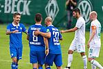 13.07.2019, Parkstadion, Zell am Ziller, AUT, FSP, Werder Bremen vs. Darmstadt 98<br /> <br /> im Bild / picture shows <br /> 0 :1 Patrick Herrmann (Darmstadt 98 #37)  <br /> <br /> <br /> jubel mit Fabian Schnellhardt (Darmstadt 98 #08)<br /> Foto © nordphoto / Kokenge