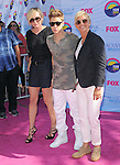 Ellen DeGeneres , Justin Bieber and Portia de Rossi at FOX's 2012 Teen Choice Awards held at The Gibson Ampitheatre in Universal City, California on July 22,2012                                                                               © 2012 Hollywood Press Agency