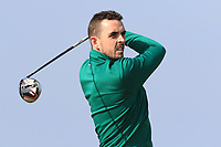 Alan Lowry (Esker Hills) on the 1st tee during Round 3 of The West of Ireland Open Championship in Co. Sligo Golf Club, Rosses Point, Sligo on Saturday 6th April 2019.<br /> Picture:  Thos Caffrey / www.golffile.ie