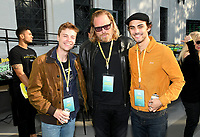 LOS ANGELES - JUNE 2: John Karna, Matthew Carnahan and Dakota Shapiro attend National Geographic's Contenders Showcase, at The Greek Theatre, a one-of-a-kind outdoor experience and concert celebrating the talent behind the scenes of National Geographic 2019 Emmy contenders, on June 2, 2019 in Los Angeles, California. (Photo by Vince Bucci/National Geographic/PictureGroup)
