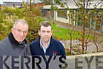 John and PJ Rowan pictured outside the Community Hospital at Rathass, Tralee on Wednesday.