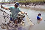 Tony Tucker And Heather O'Conner Setting Nets For Diamondback Terrapins
