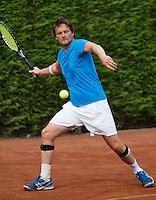 2013,August 21,Netherlands, Amstelveen,  TV de Kegel, Tennis, NVK 2013, National Veterans Tennis Championships,   John Peters<br /> Photo: Henk Koster