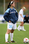 05 November 2008: North Carolina's Leslie Briggs. The University of North Carolina defeated the University of Miami 1-0 at Koka Booth Stadium at WakeMed Soccer Park in Cary, NC in a women's ACC tournament quarterfinal game.