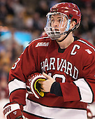Jimmy Vesey (Harvard - 19) - The Boston College Eagles defeated the Harvard University Crimson 3-2 in the opening round of the Beanpot on Monday, February 1, 2016, at TD Garden in Boston, Massachusetts.