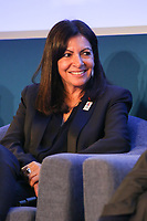 ANNE HIDALGO, MAIRE DE PARIS, LANCEMENT DE LA PREMIERE CAMPAGNE MONDIALE DE COMMUNICATION EXTERIEURE DEDIEE A LA SECURITE ROUTIERE, PARIS, FRANCE, LE 10/03/2017.