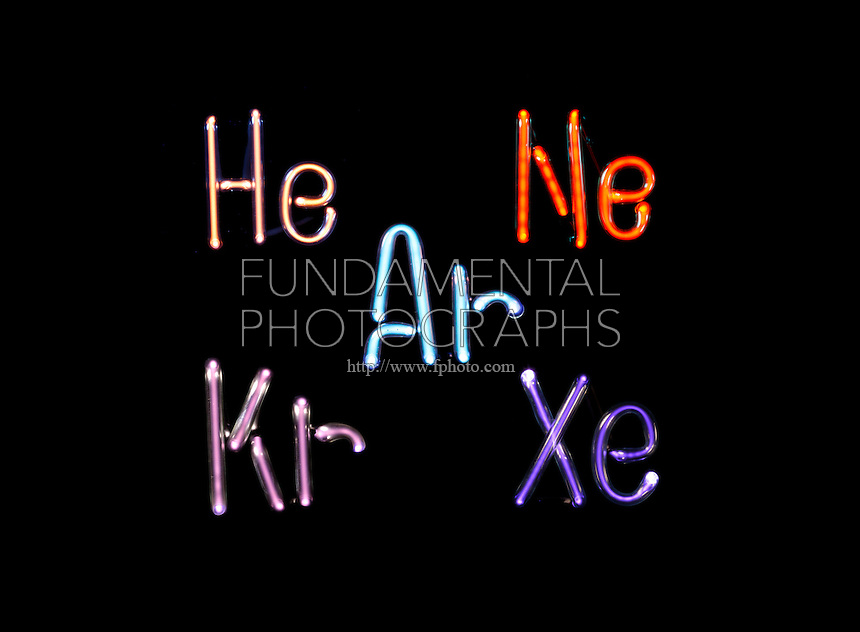 Science Chemistry Noble Gases Fundamental Photographs The Art Of