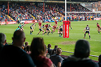 Picture by Allan McKenzie/SWpix.com - 22/04/2018 - Rugby League - Ladbrokes Challenge Cup - York City Knight v Catalans Dragons - Bootham Crescent, York, England - The crowd look on as York take on Catalans at Bootham Crescent.