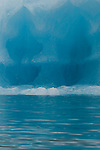Alaska, Prince William Sound, Blue ice, Iceberg detail, Columbia Bay, USA,
