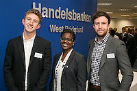 Young entrepreneurs Richard (left) and Martin Shipman of IM Axle Specialists with Angela Squires from Handelsbanken