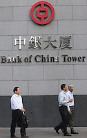 An exterior shot of the Bank of China (Hong Kong), Central district, Hong Kong, China, 28 April 2014.