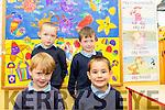 Glencar NS Junior Infants 2016<br /> <br /> Front Row<br /> L-R Aidan Poff, Paul Foley<br /> Back Row<br /> L-R Killian Joy, Cian Sheehan.