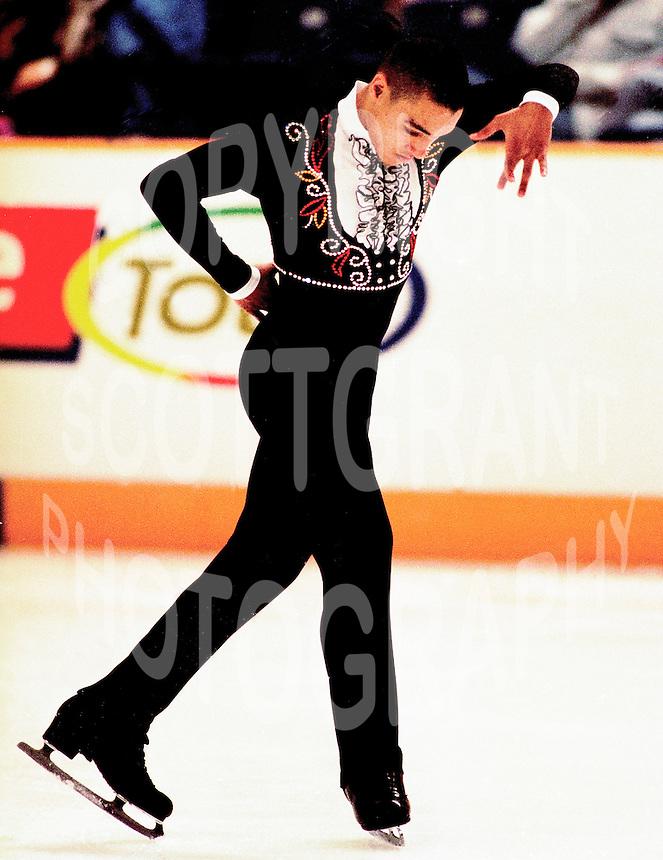 Derrick Delmore USA figure skater competes at Skate Canada. Photo copyright Scott Grant.