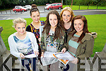 WELL PLEASED: Leaving Cert students from Brookfield College, Tralee, who received their Leaving Cert results on Wednesday morning are pictured l-r: Niamh O'Leary (Tralee), Shauna Enright (Tralee), Aisling Collins (Tralee), Anna Hayes (Tralee), and Orla Fitzgerald (Tralee).