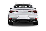 Straight rear view of 2017 Infiniti Q60 Premium 2 Door Coupe Rear View  stock images