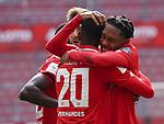 Sport: Fussball: 1. Bundesliga:: nphgm001:  Saison 19/20: 33. Spieltag: 1. FSV Mainz 05 vs SV Werder Bremen 20.06.2020<br />Jubel auf Mainzer Seite bei Edimilson Fernandes und Jean-Paul Boetius (M05),<br /> Foto: Bratic/rscp-photovia/via gumzmedia/nordphoto<br /><br />DFL regulations prohibit any use of photographs as image sequences and/or quasi-video.<br />EDITORIAL USE ONLY.<br />National and international News-Agencies OUT.<br /><br />  DFL REGULATIONS PROHIBIT ANY USE OF PHOTOGRAPHS AS IMAGE SEQUENCES AND OR QUASI VIDEO<br /> EDITORIAL USE ONLY<br /> NATIONAL AND INTERNATIONAL NEWS AGENCIES OUT