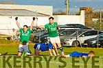 Padraig Boyle 15 and Aidan Boyle Ballyduff celebrate scoring  the match winning goal deep into injury time in the Junior Club Championship final in Killorglin on Saturday