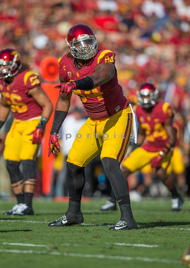 USC Trojans Leonard Williams (94) during a game against the Colorado Buffaloes on October 18, 2014 at Los Angeles Memorial Coliseum in Los Angeles, CA. USC beat Colorado 56-28.