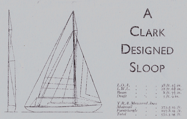 The plans of the 38ft Cheerful Maid designed in 1943 by Robert Clark for John Sisk