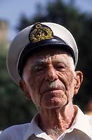 Europe/Turquie/Antalya : Vieux marin, le capitaine Mustapha vétéran du port