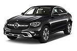 2020 Mercedes Benz GLC-Coupe - 5 Door SUV Angular Front automotive stock photos of front three quarter view