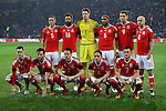 Wales team line up during the international friendly match at the Cardiff City Stadium. Photo credit should read: Philip Oldham/Sportimage