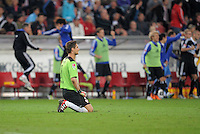 FUSSBALL   1. BUNDESLIGA  SAISON 2011/2012   7. Spieltag     23.09.2011 VfB Stuttgart - Hamburger SV Torwart Sven Ulreich (VfB Stuttgart) enttaeuscht