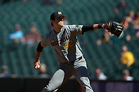 Missouri Tigers starting pitcher Ian Bedell (32) in action against the Baylor Bears in game one of the 2020 Shriners Hospitals for Children College Classic at Minute Maid Park on February 28, 2020 in Houston, Texas. The Bears defeated the Tigers 4-2. (Brian Westerholt/Four Seam Images)