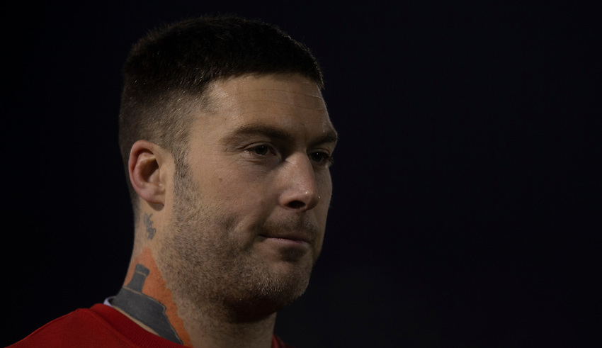 Gloucester's Matt Banahan<br /> <br /> Photographer Bob Bradford/CameraSport<br /> <br /> Gallagher Premiership - Bath Rugby v Gloucester Rugby - Monday 4th February 2019 - The Recreation Ground - Bath<br /> <br /> World Copyright © 2019 CameraSport. All rights reserved. 43 Linden Ave. Countesthorpe. Leicester. England. LE8 5PG - Tel: +44 (0) 116 277 4147 - admin@camerasport.com - www.camerasport.com