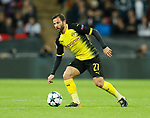 Dortmund's Gonzalo Castillo in action during the champions league match at Wembley Stadium, London. Picture date 13th September 2017. Picture credit should read: David Klein/Sportimage