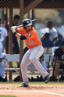 Houston Astros Bryan Muniz (55) during a minor league spring training game against the Detroit Tigers on March 25, 2015 at Tiger Town in Lakeland, Florida.  (Mike Janes/Four Seam Images)