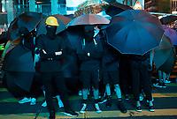 Anti-Extradition Bill protestors block a makor intersection in Mong Kok, Kowloon, Hong Kong, China, 04 August 2019.