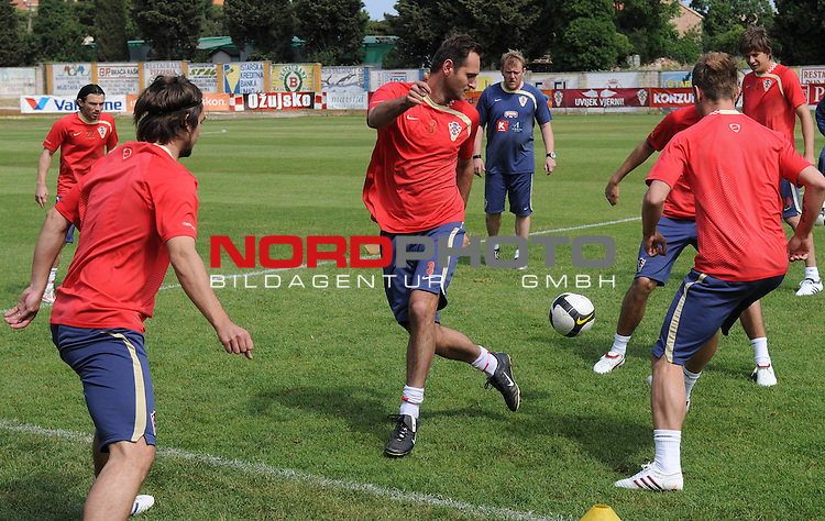 29.05..2009., Rovinj - First day of preparations croatian football national team. 06.06.2009. they are playing qualifying match with Ukraine for World Championship 2010. Robert Prosinecki, Josip Simunic. <br /> Photo: Anto Magzan/ / nph (  nordphoto  )