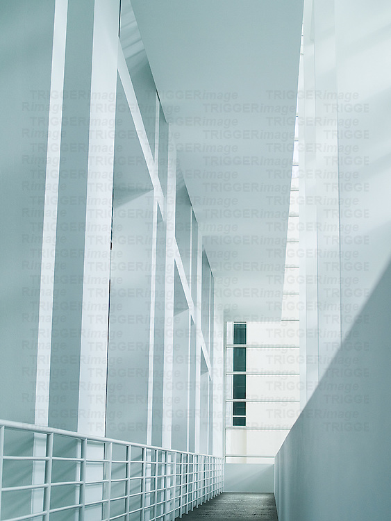 A white interior of a building