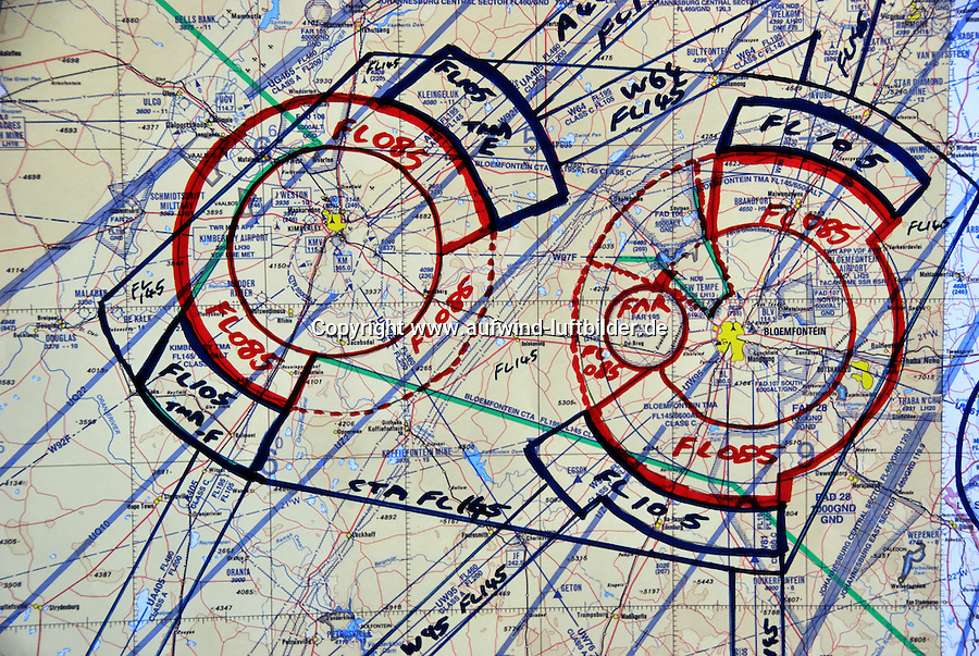 Luftraumstrucktur: AFRIKA, SUEDAFRIKA, 18.12.2007: neue Luftraumstrucktur auch in Suedafrika,  Gariep