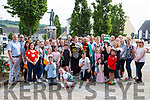 Supporters gather in the square  Abbeyfeale last Friday to welcome home father & daughter Damien & Kori Goad.