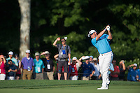 Lee Westwood nails his approach into the 10th during the opening round of the US PGA Championship at Valhalla (Photo: Anthony Powter) Picture: Anthony Powter / www.golffile.ie