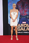 HOLLYWOOD, CA- JULY 21: Actress Anna Faris arrives at the Los Angeles premiere of Marvel's 'Guardians Of The Galaxy' at the El Capitan Theatre on July 21, 2014 in Hollywood, California.