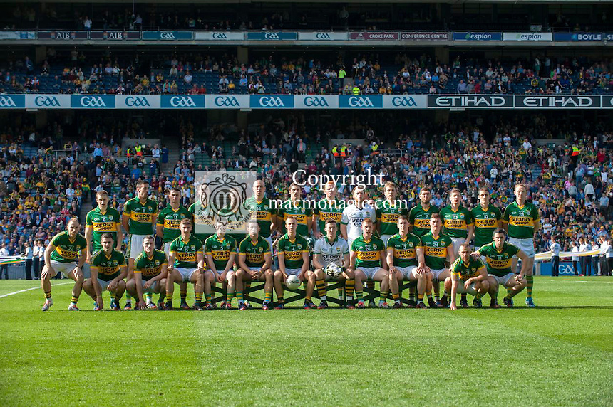 The Kerry team that defeated Donegal in the 2014 All-Ireland Football Final in 2014.<br /> Photo: Don MacMonagle<br /> <br /> Photo: Don MacMonagle <br /> e: info@macmonagle.com