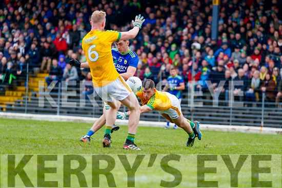 David Shaw, Kerry in action against Donal Keogan, Meath during the Allianz Football League Division 1 Round 4 match between Kerry and Meath at Fitzgerald Stadium in Killarney, on Sunday.