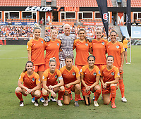 Houston, TX - Saturday July 13, 2019: NWSL regular season match between the Houston Dash and the Chicago Red Stars at BBVA Stadium.