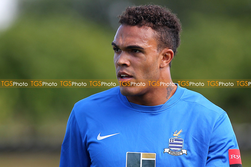 Geoffrey Mitchell of Redbridge - Redbridge vs Barkingside - Ryman League Division One North Football at Oakside, Barkingside - 26/08/13 - MANDATORY CREDIT: Gavin Ellis/TGSPHOTO - Self billing applies where appropriate - 0845 094 6026 - contact@tgsphoto.co.uk - NO UNPAID USE